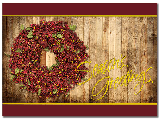 Holiday Wreath Card | Cardplant