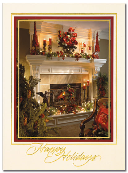 Warm Holiday Home Card | Cardplant