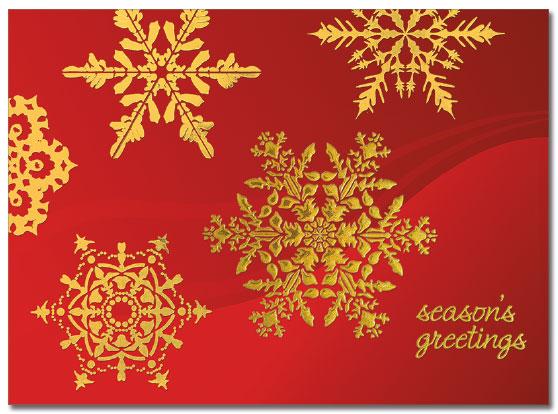 Golden Snowflakes Card