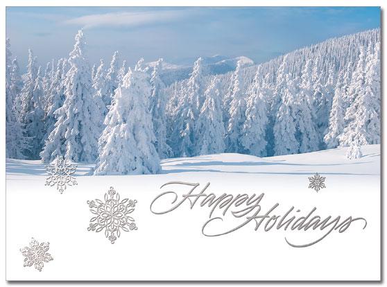 Snowy Holidays Cards