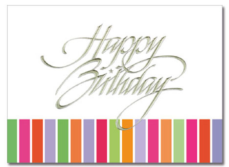 Colorful Stripes Birthday Card   Cardplant