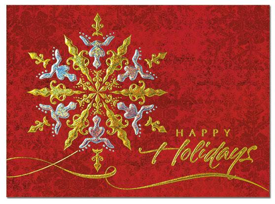 Sparkling Snowflake Card