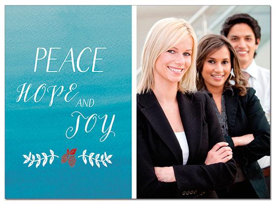 Peace and Joy Photo Card   Cardplant
