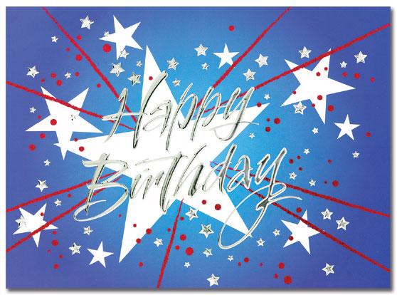 Star Birthday Card   Cardplant