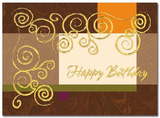 Foil Swirl Birthday Card | Cardplant