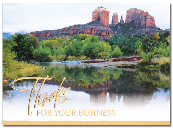 Scenic Thank You Card