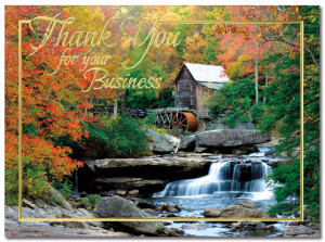 Autumn Mill Thank You Card