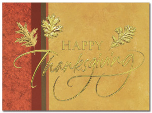 Golden Thanksgiving Card