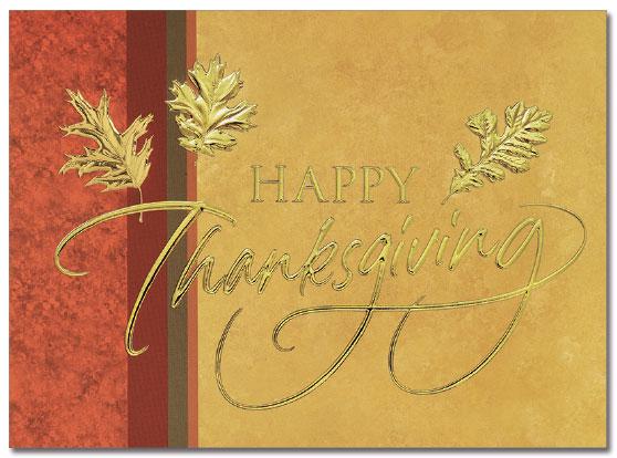 Golden Thanksgiving Card