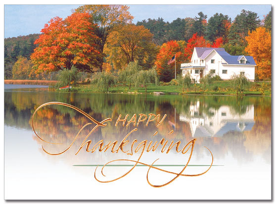 Lake Retreat Thanksgiving Card