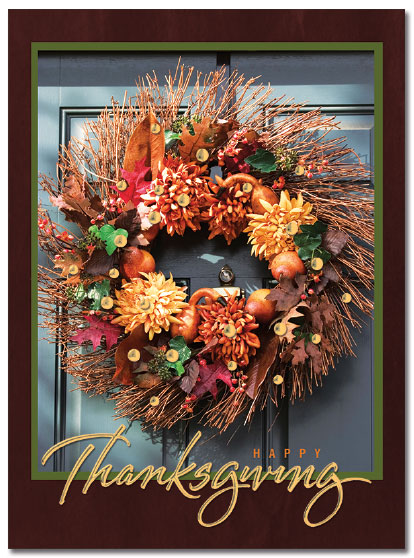 Thanksgiving Wreath Card