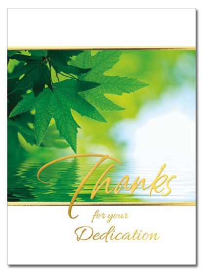 Dedication Thanks Card