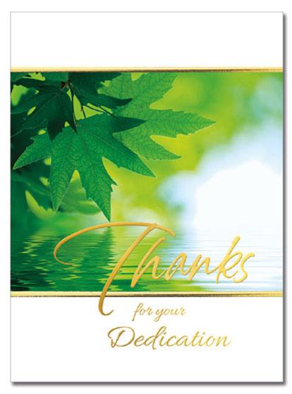 Dedication Thanks Card