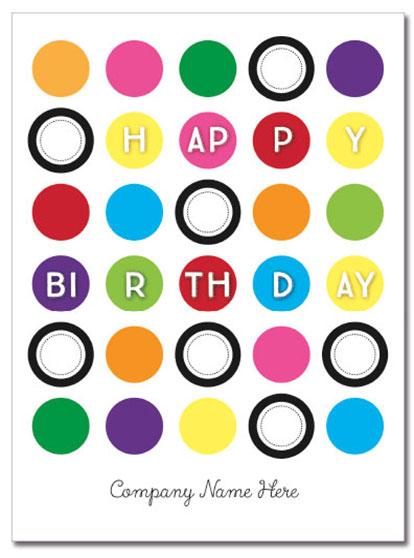 Birthday Circles Logo Card