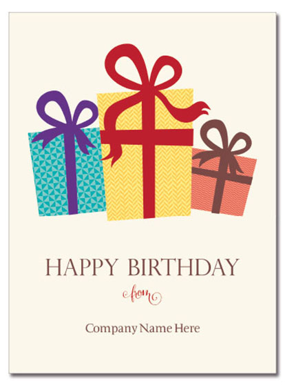 Birthday Packages Logo Card