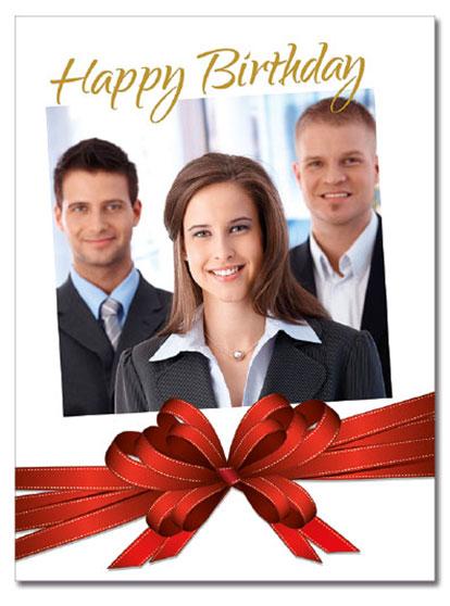 Birthday Bow Photo Card   Cardplant