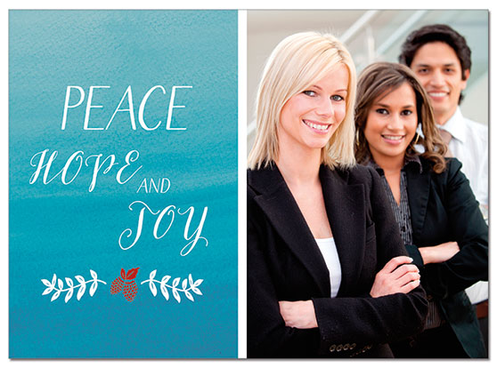 Peace and Joy Photo Card | Cardplant