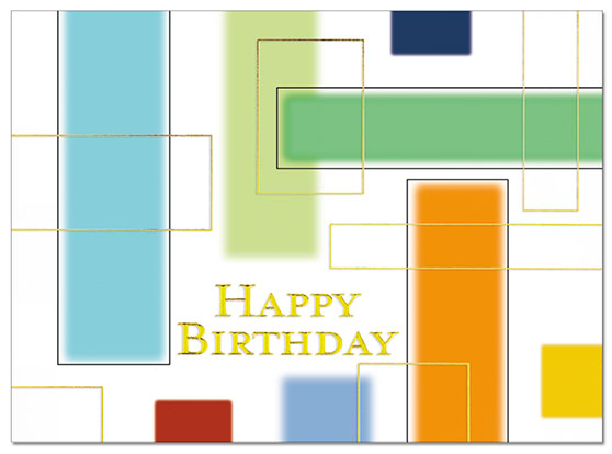Birthday Colors Card | Cardplant