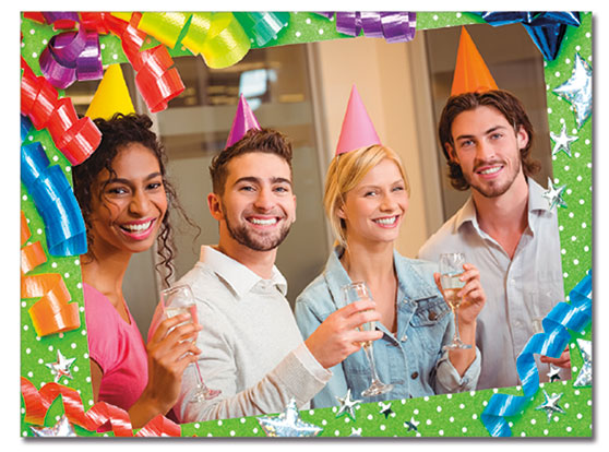 Festive Birthday Photo Card   Cardplant