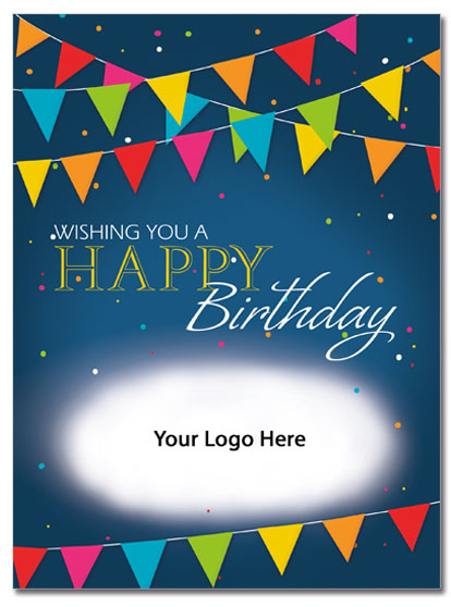 Pennant Birthday Logo Card | Cardplant