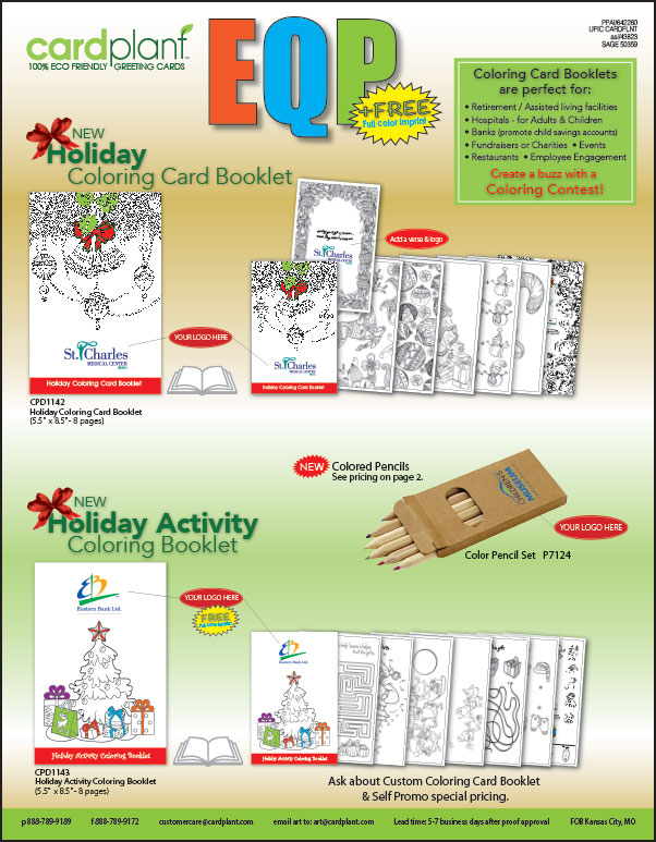 EQP Holiday Coloring Booklets P1 | Cardplant