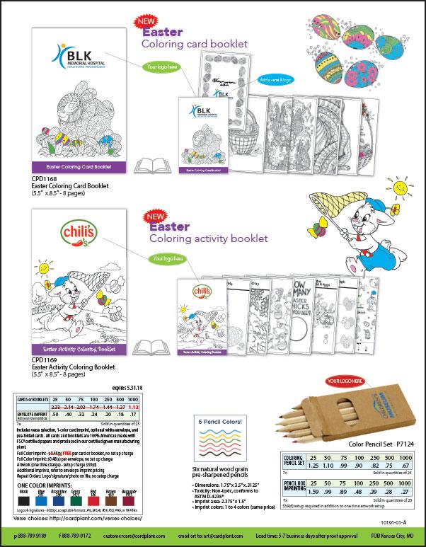EQP Spring Coloring Booklets P2 | Cardplant