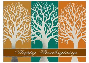 Silver Thanksgiving Card