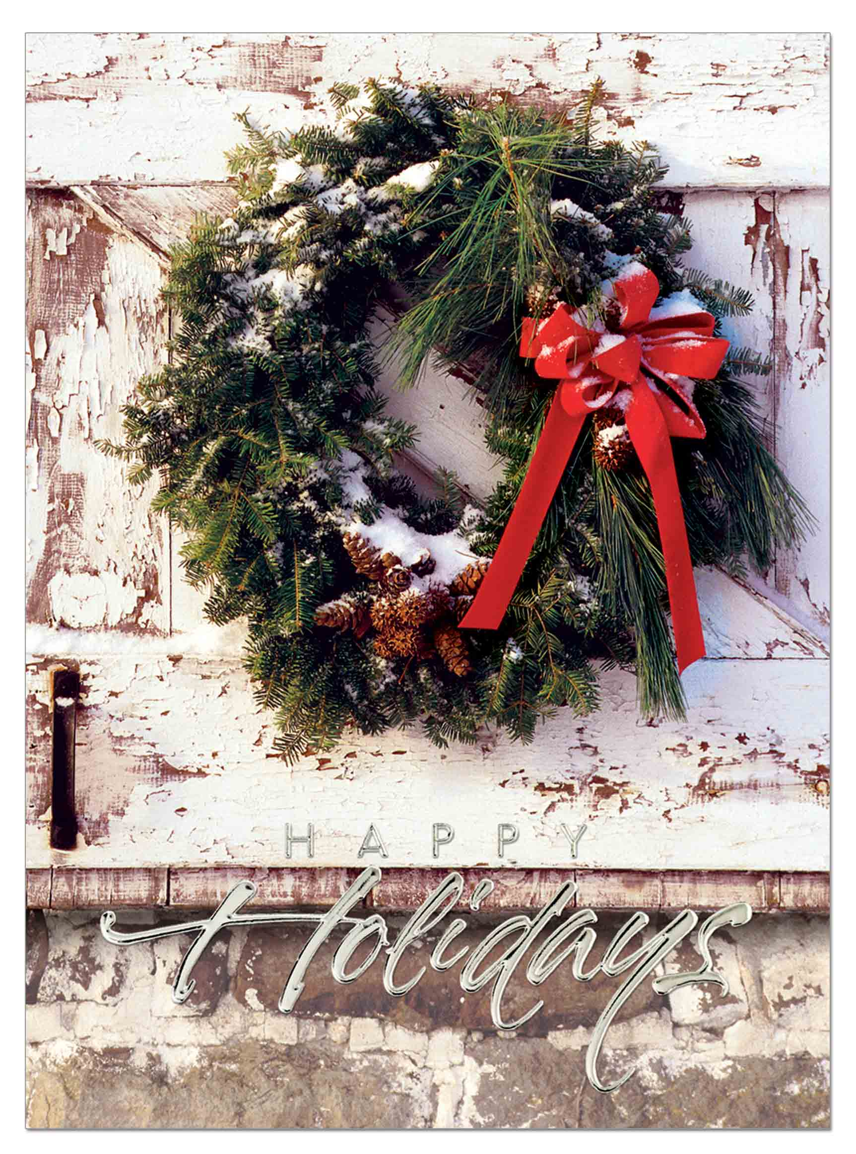 Rustic-Wreath Card