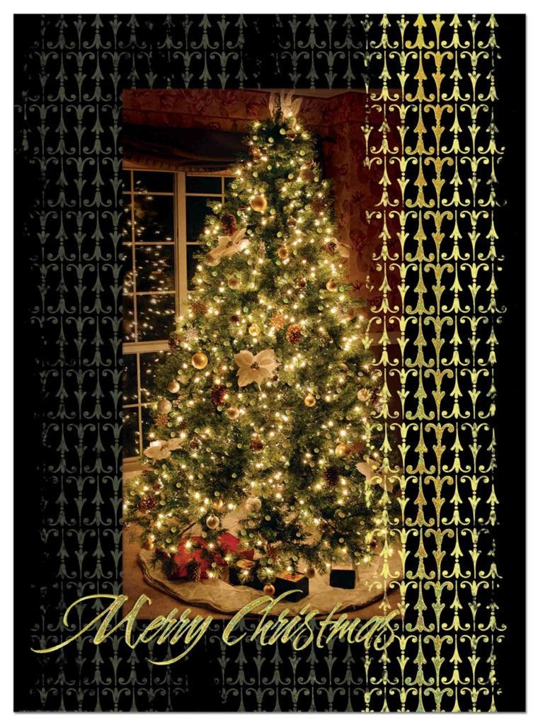 Decorated-Tree Holiday Card