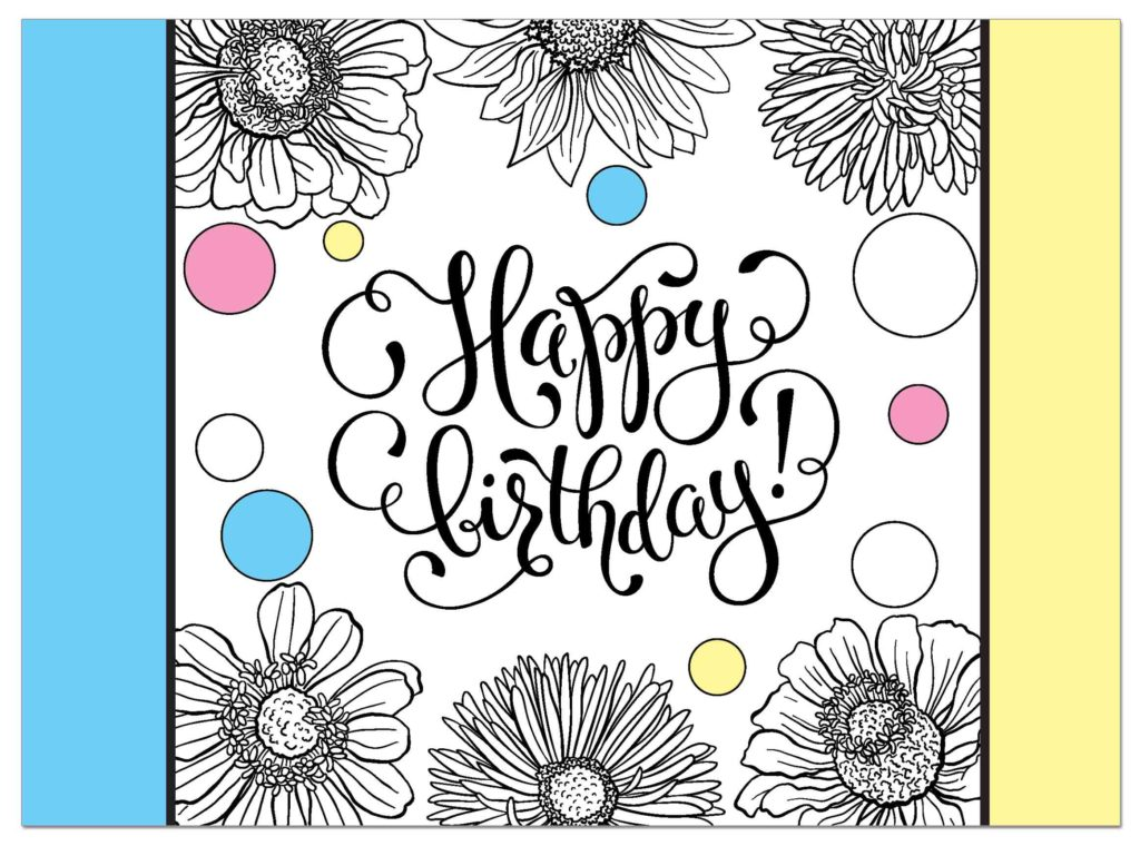 Floral-Coloring-Card