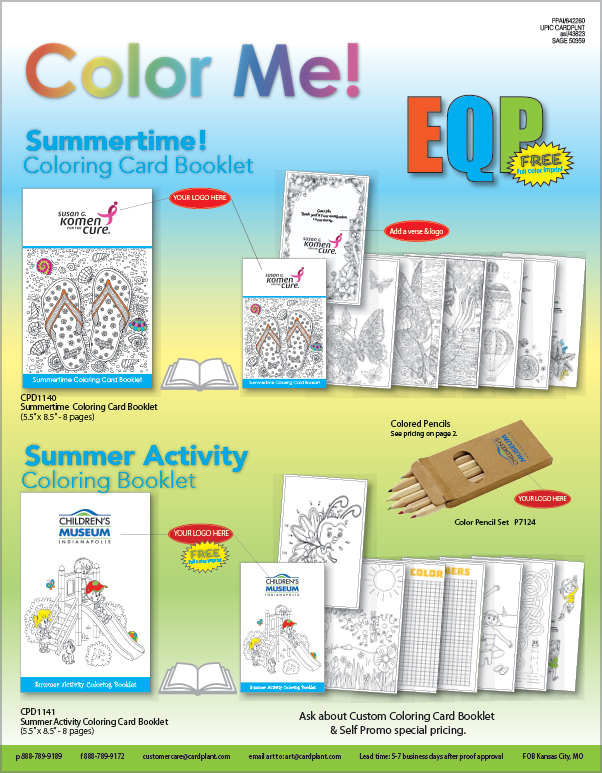 EQP Spring Coloring Booklets P1 | Cardplant