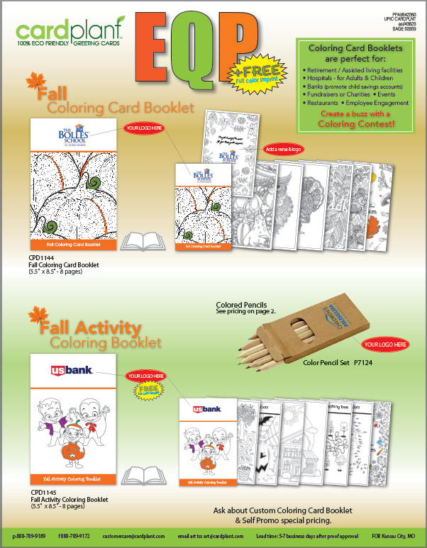 EQP Holiday & Fall Coloring Books_2018_P1 | Cardplant