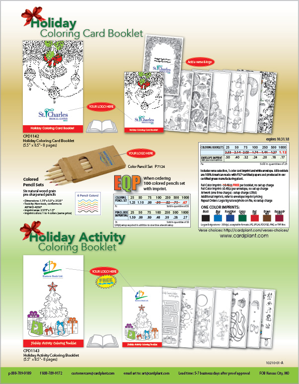 EQP Holiday & Fall Coloring Books_2018_P2 | Cardplant