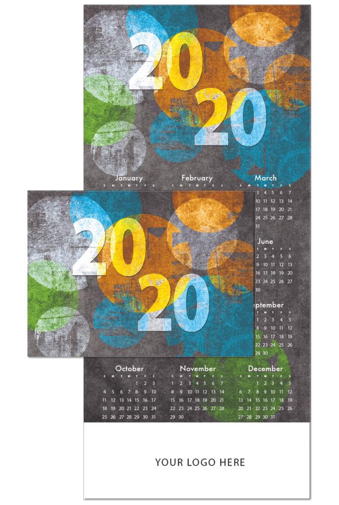 Graphic Circles Calendar Card