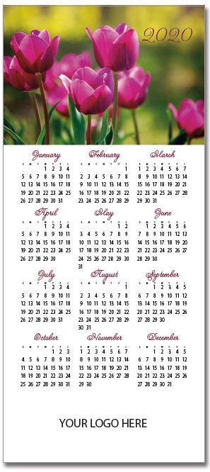 Tulips Magnetic Calendar