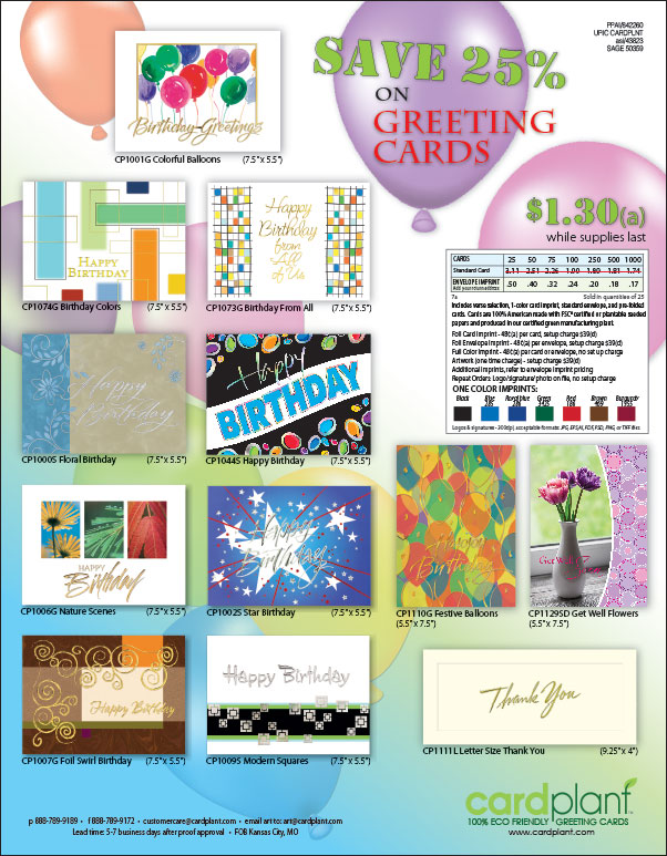 Greeting Card Closeouts Flyer | Cardplant